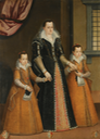 Three figures, said to be contessa Constanza Machiavelli and her two daughters by ? (auctioned by Sotheby's)