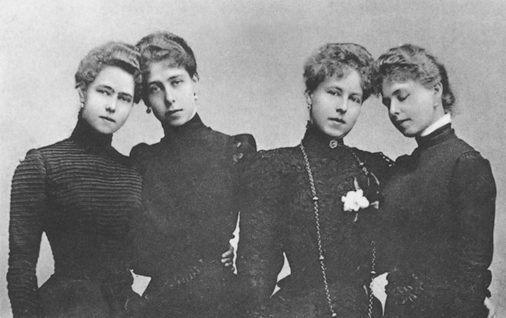 62f959178a1 Unsere vier Prinzessinnen von Sachsen-Coburg-Gotha Postcard l. to r.  Beatrice