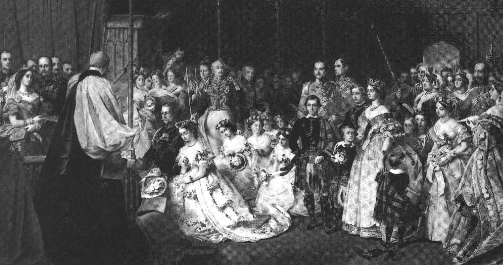 1858 Princess Royal Victoria's wedding (painted in 1860) by John Phillip (Royal Collection)