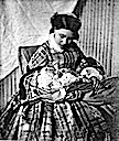1859 Crown Princess Victoria with baby Wilhelm