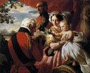 1851 Queen Victoria and the Duke of Wellington by Franz Xaver Winterhalter (Royal Collection)