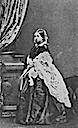 1861 Victoria with lace shawl carte de visite