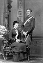 1881 Princess Victoria of Baden seated and Crown Prince Gustaf