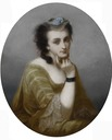 Virginia Oldoini, Countess of Castiglione oval portrait by ? (location unknown to gogm)
