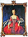 Wilhelmine von Bayreuth wearing red dress by Antoine Pesne (location unknown to gogm)