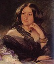 Detail of the Duchess of Bassano from Winterhalter's 1855 group portrait