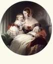 Young Queen Victoria and two children