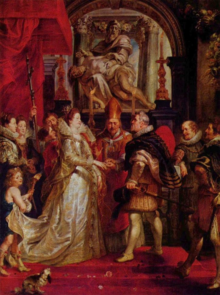1600 Marie de Medici wedding by Peter Paul Rubens - painted 1622-1625 (Musée du Louvre - Paris ...
