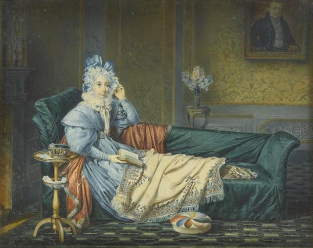 1834 Queen Julie resting on a chaise by Michel Ghislain Stapleaux (Château  Fontainebleau Fontainebleau France) | Grand Ladies | gogm